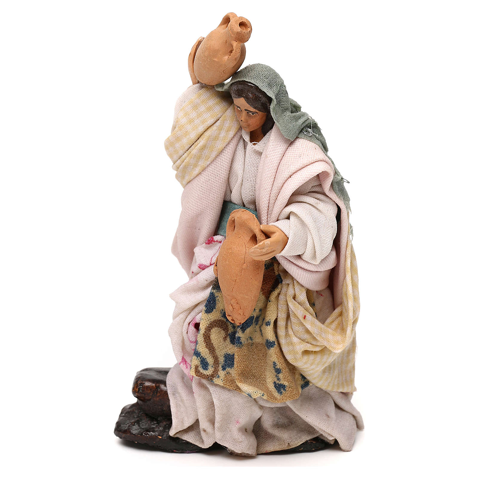 Neapolitan Nativity scene, woman with jar 12 cm 4