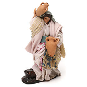 Neapolitan Nativity scene, woman with jar 12 cm s1