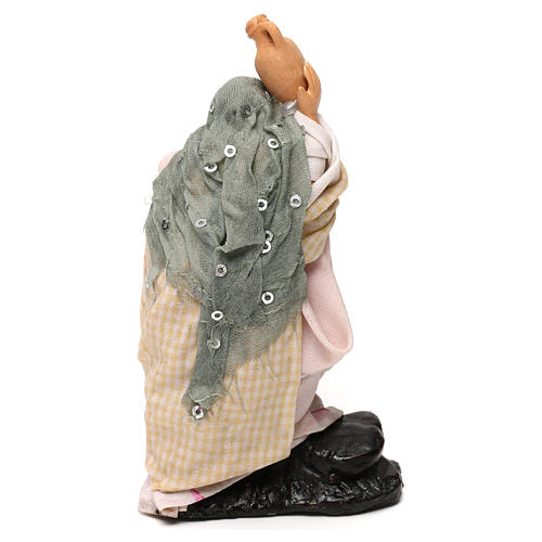 Neapolitan Nativity scene, woman with jar 12 cm 3
