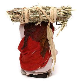 Neapolitan Nativity scene, woman with straw 12 cm s3