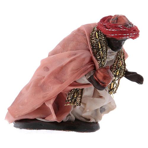 Neapolitan Nativity scene, dark-skinned King 12 cm 3