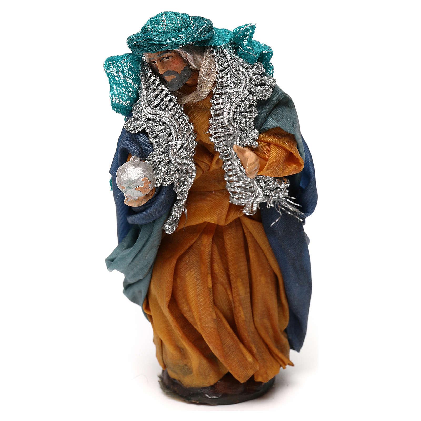 Neapolitan Nativity scene, fair-skinned King 12 cm 4