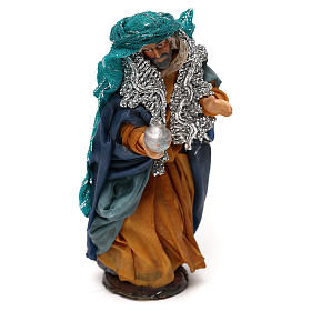 Neapolitan Nativity scene, fair-skinned King 12 cm s2
