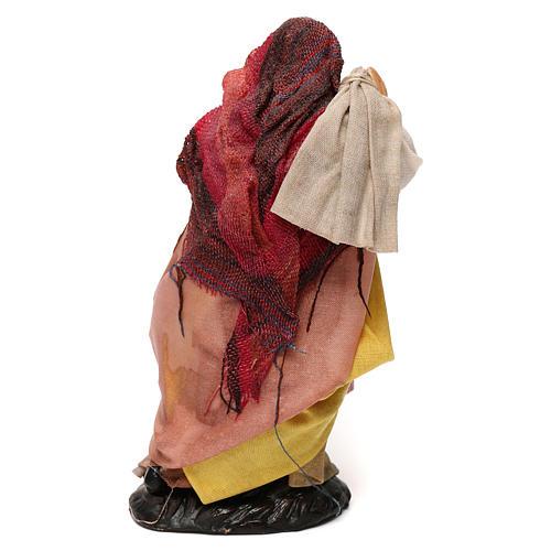 Donna con sacco 12 cm presepe napoletano 3