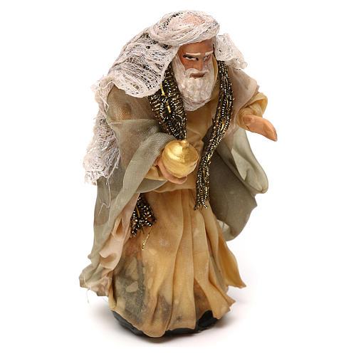 Neapolitan Nativity scene, Magi King with white beard 12 cm 2