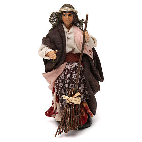 Neapolitan Nativity scene, woman with broom 12 cm s1