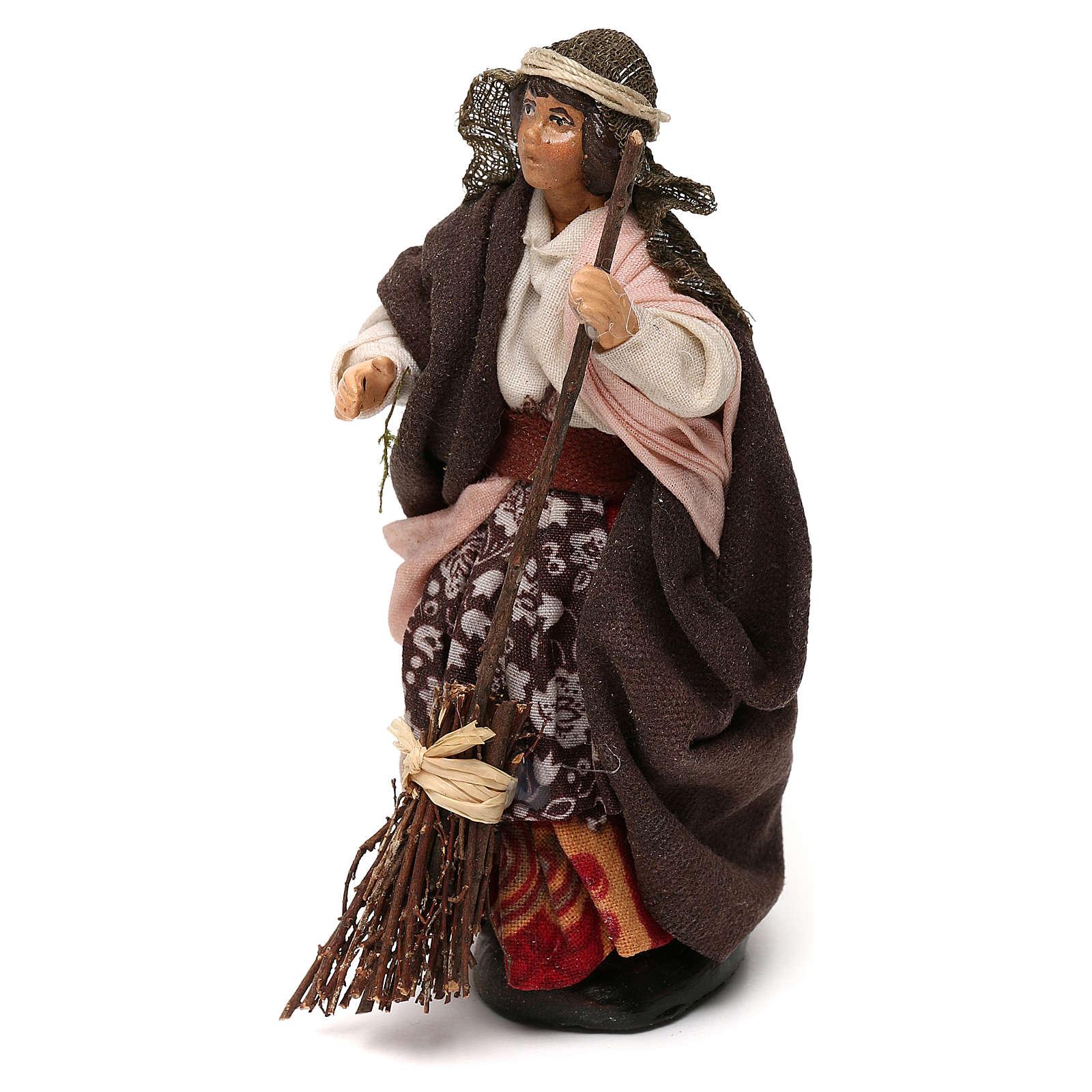 Mujer con escoba 12 cm belén napolitano 4