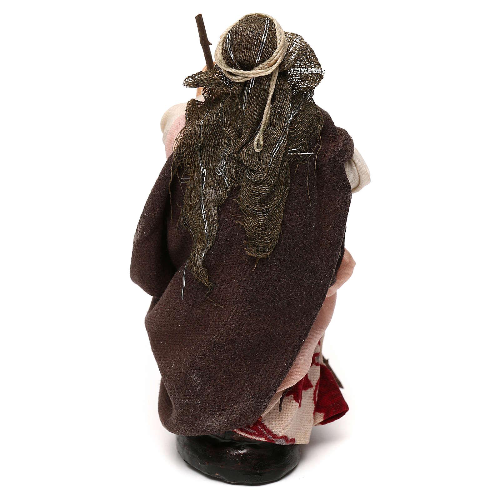 Donna con scopa 12 cm presepe napoletano 4