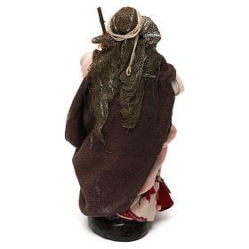 Donna con scopa 12 cm presepe napoletano s3