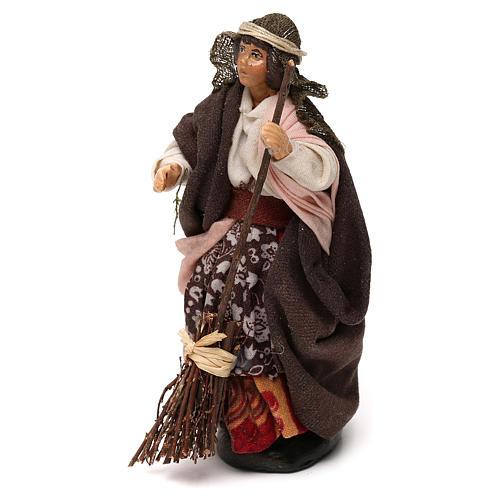 Donna con scopa 12 cm presepe napoletano 2