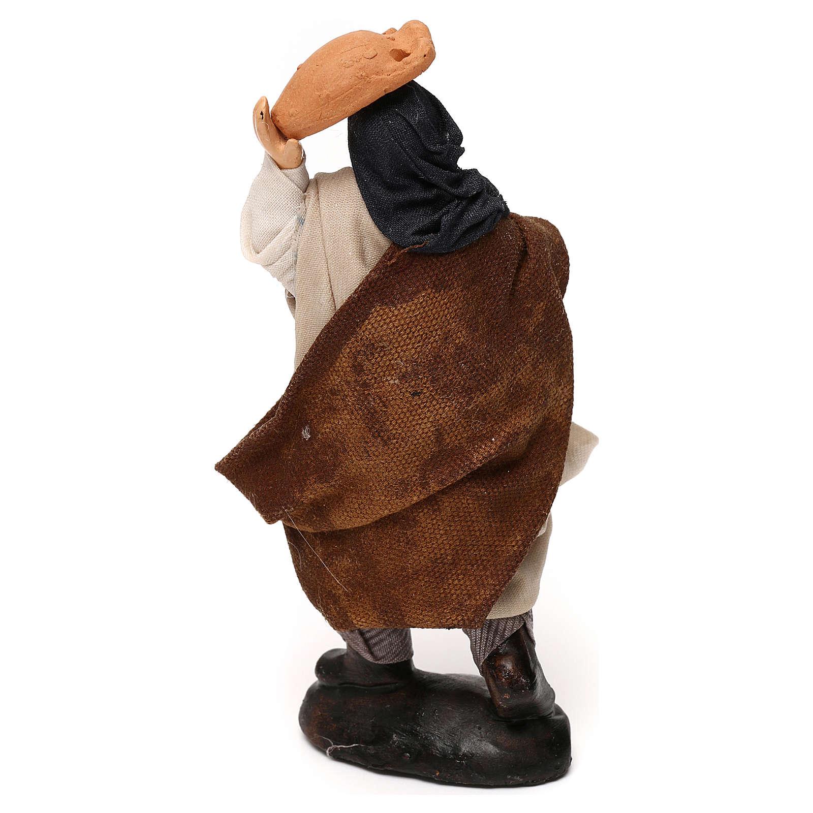 Uomo con brocche 12 cm presepe napoletano 4
