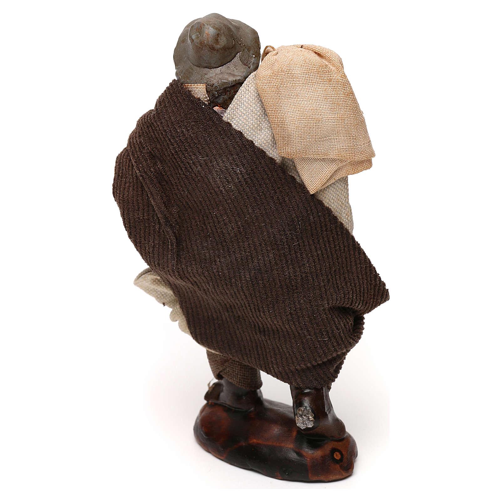 Uomo con sacco presepe napoletano 12 cm 4