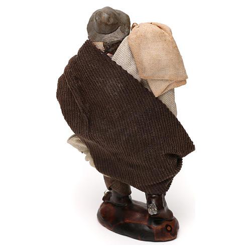 Uomo con sacco presepe napoletano 12 cm 3