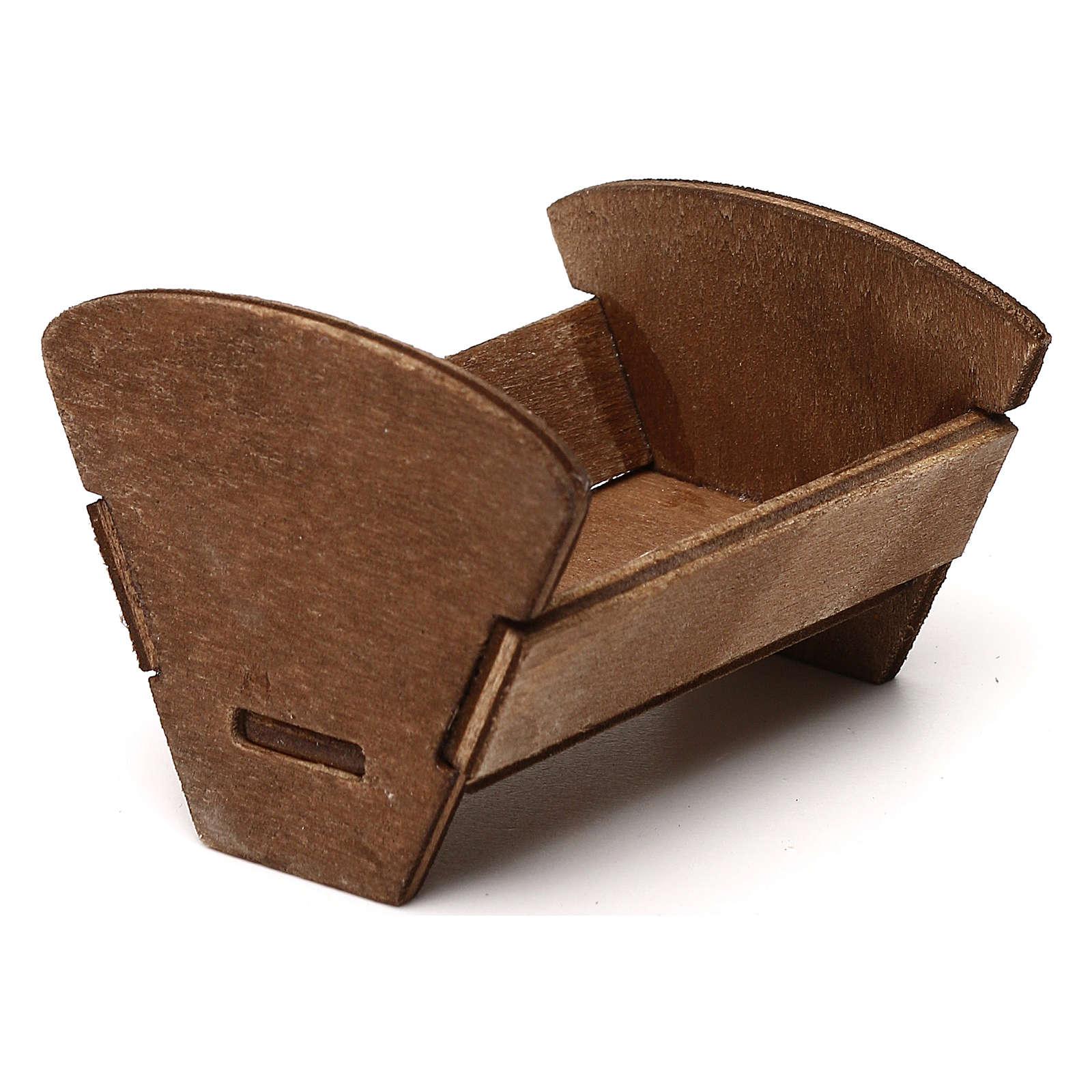 Culla in legno ad incastro 12 cm 4