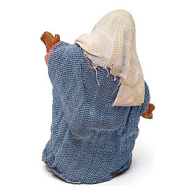 STOCK Madonna terracotta vestita 7 cm per presepe napoletano s2