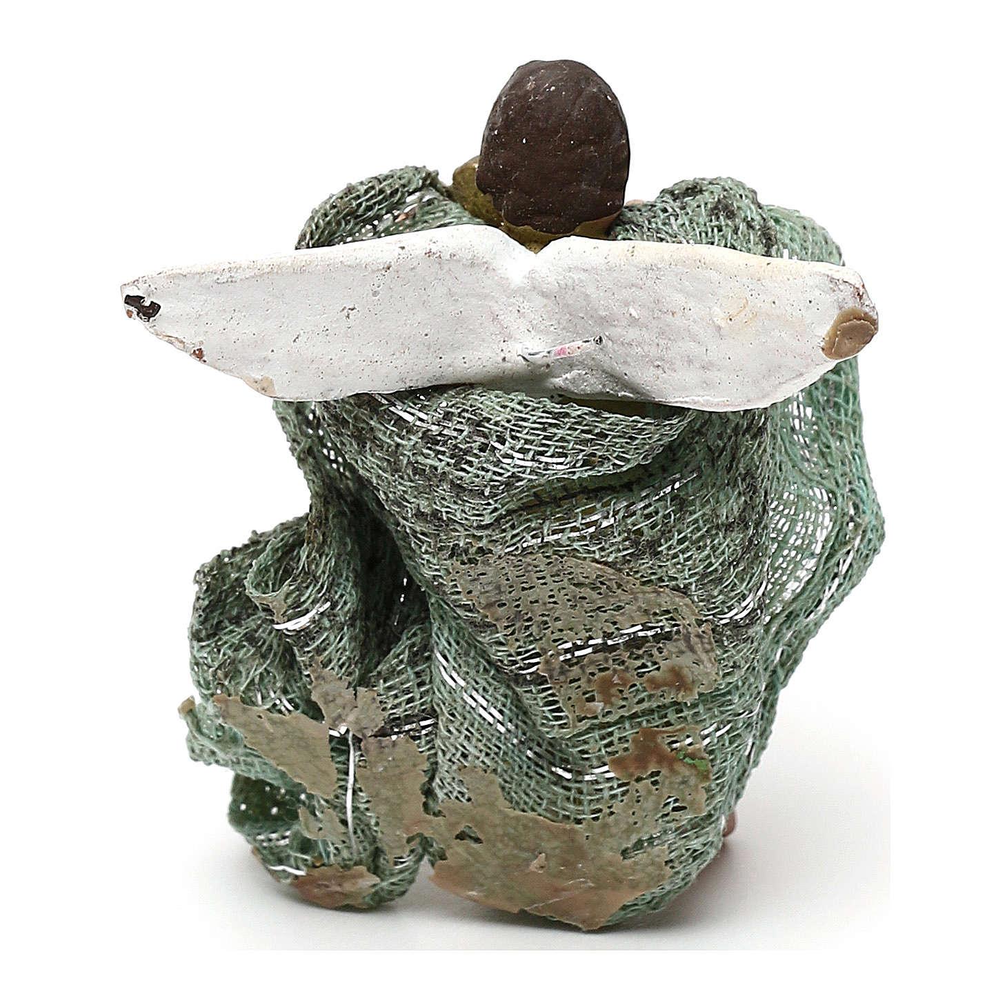 STOCK Angelo Gloria terracotta vestito 4 cm presepe napoletano 4