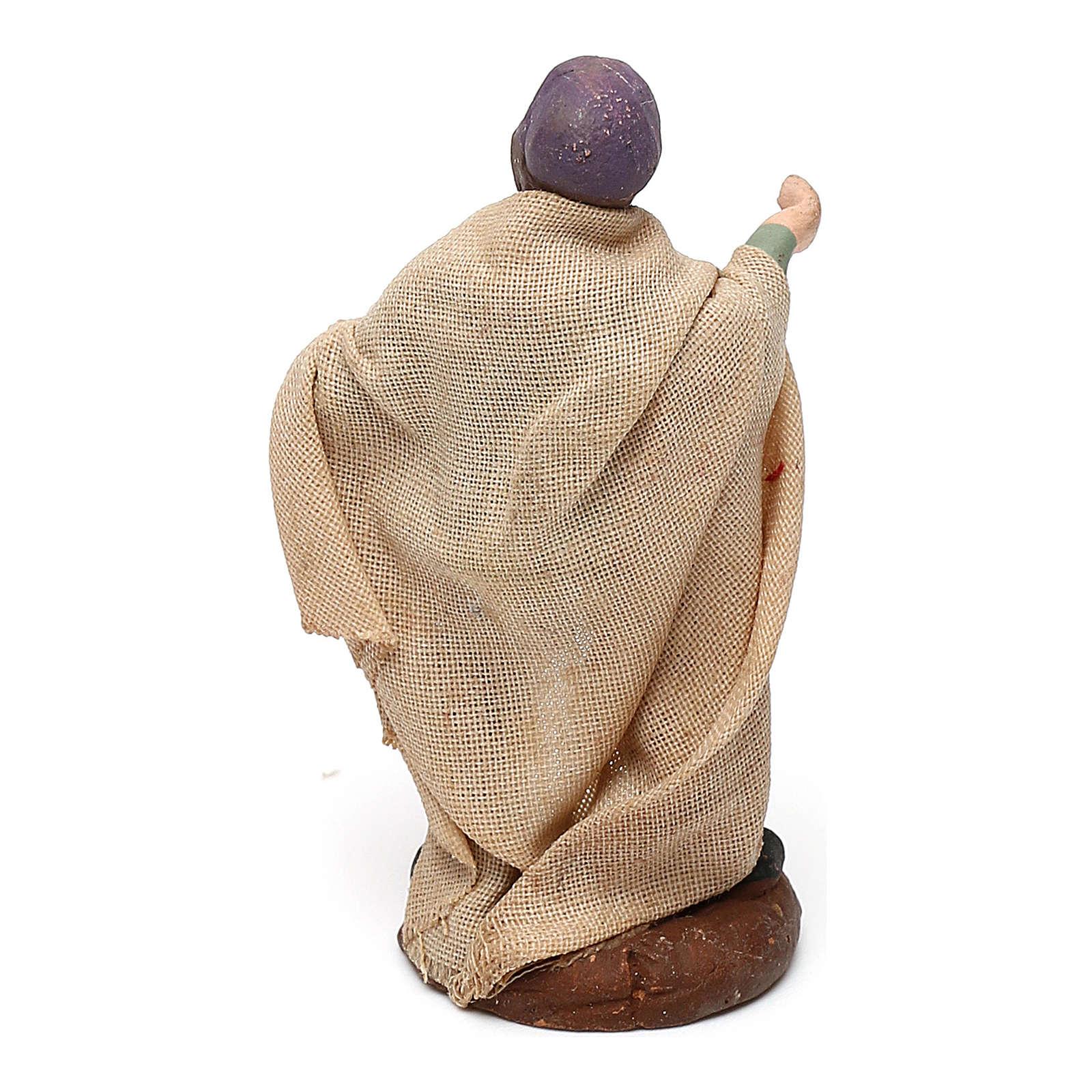 STOCK Pastor con jamón terraota vestido 4 cm belén Nápoles 4