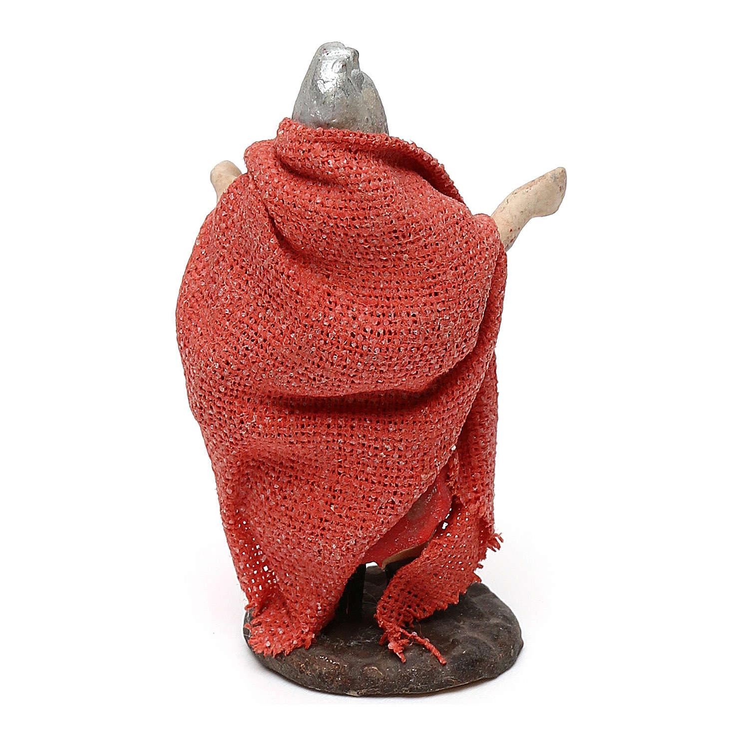 STOCK Soldat romain terre cuite tissu 4 cm crèche Naples 4