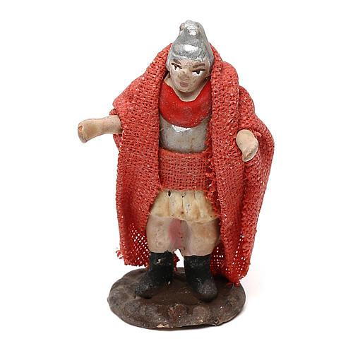 STOCK Soldato romano terracotta vestito misura 4 cm per presepe Napoli 1