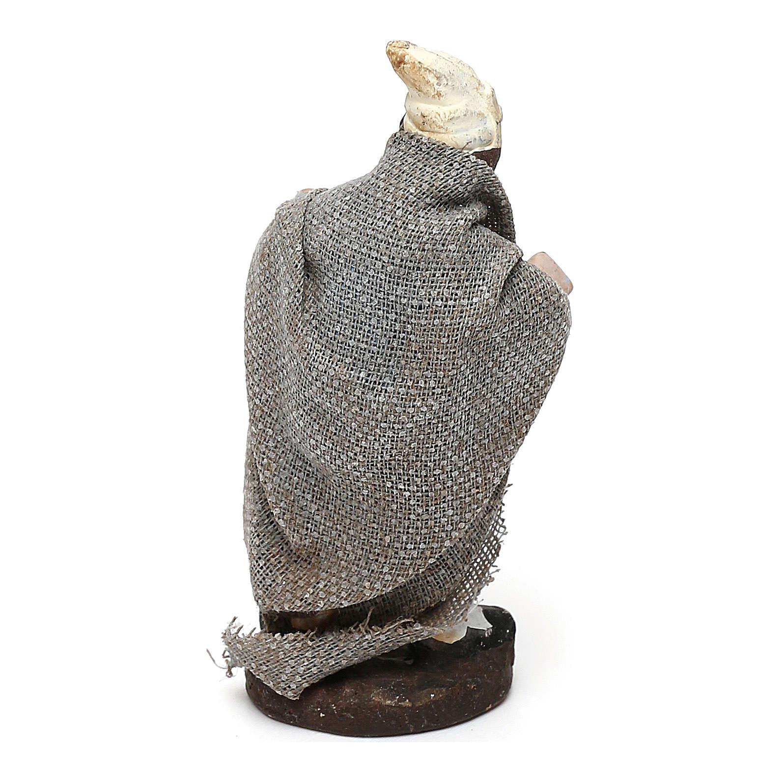 STOCK Berger en terre cuite tissu 4 cm crèche Naples 4