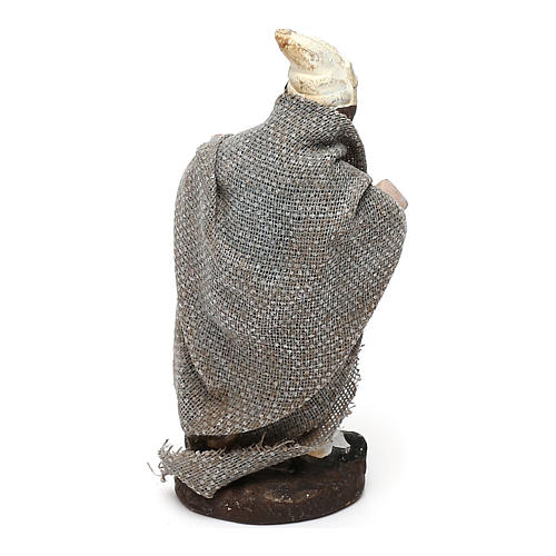 STOCK Berger en terre cuite tissu 4 cm crèche Naples 2