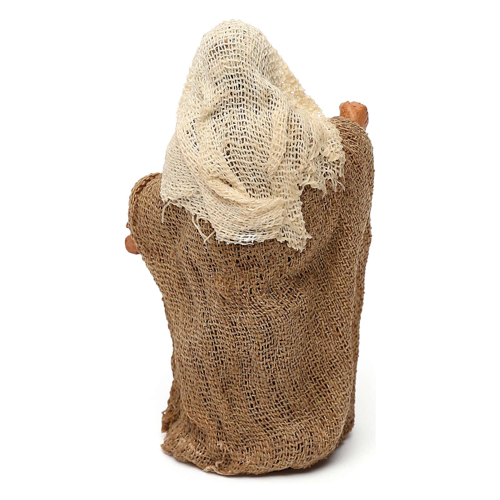 STOCK Saint Joseph terre cuite tissu 7 cm crèche Naples 4