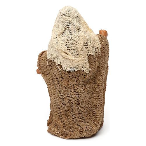 STOCK Saint Joseph terre cuite tissu 7 cm crèche Naples 2
