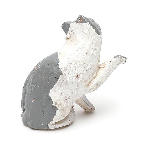 STOCK Gatto per presepe 7 cm terracotta 2