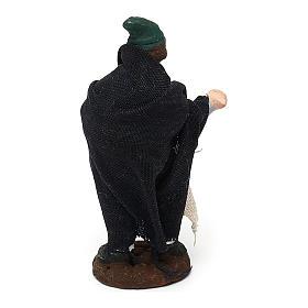 STOCK Pastor de terracota para belén Nápoles con vestido 4 cm s2