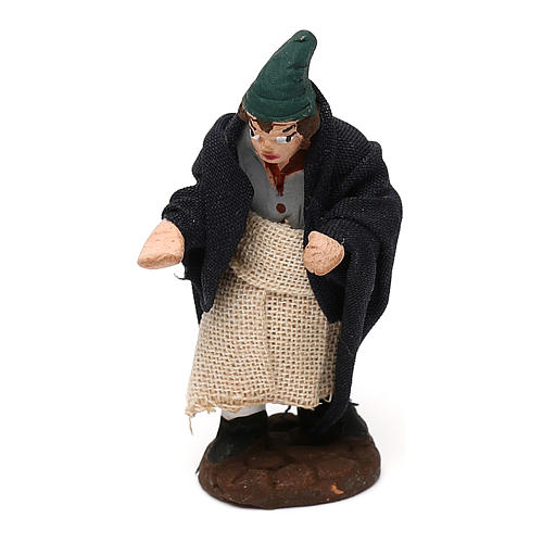 STOCK Pastor de terracota para belén Nápoles con vestido 4 cm 1