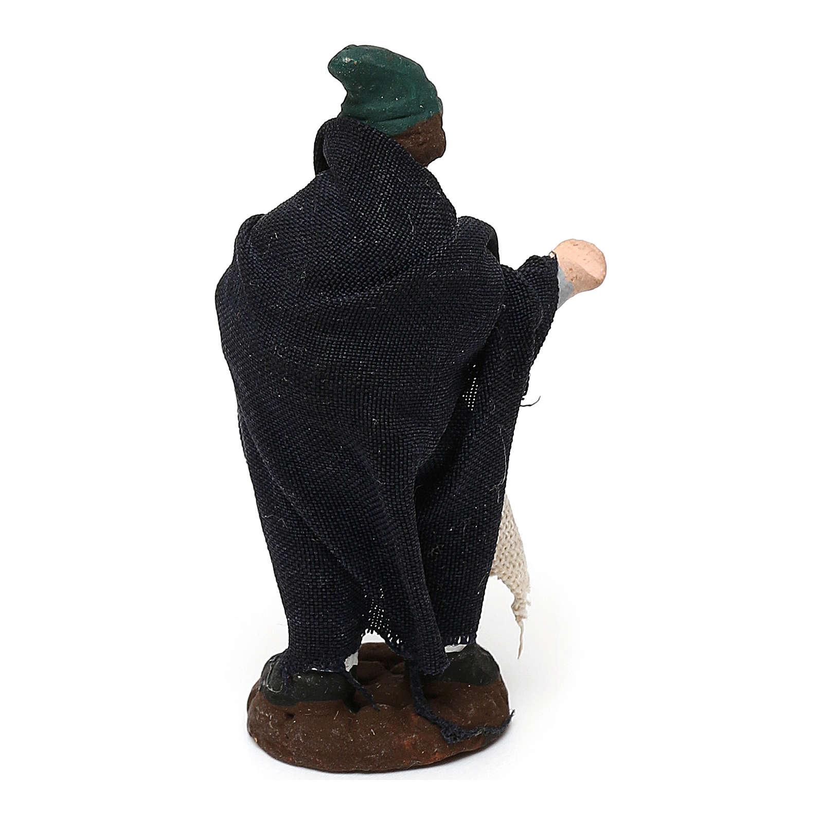 STOCK Pastore in terracotta per presepe Napoli con veste 4 cm 4