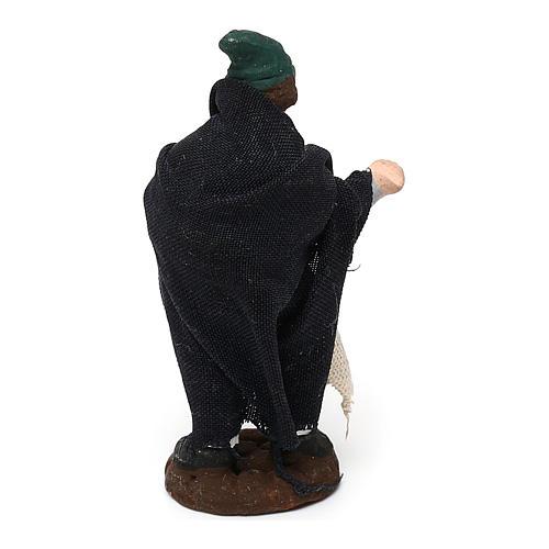STOCK Pastore in terracotta per presepe Napoli con veste 4 cm 2
