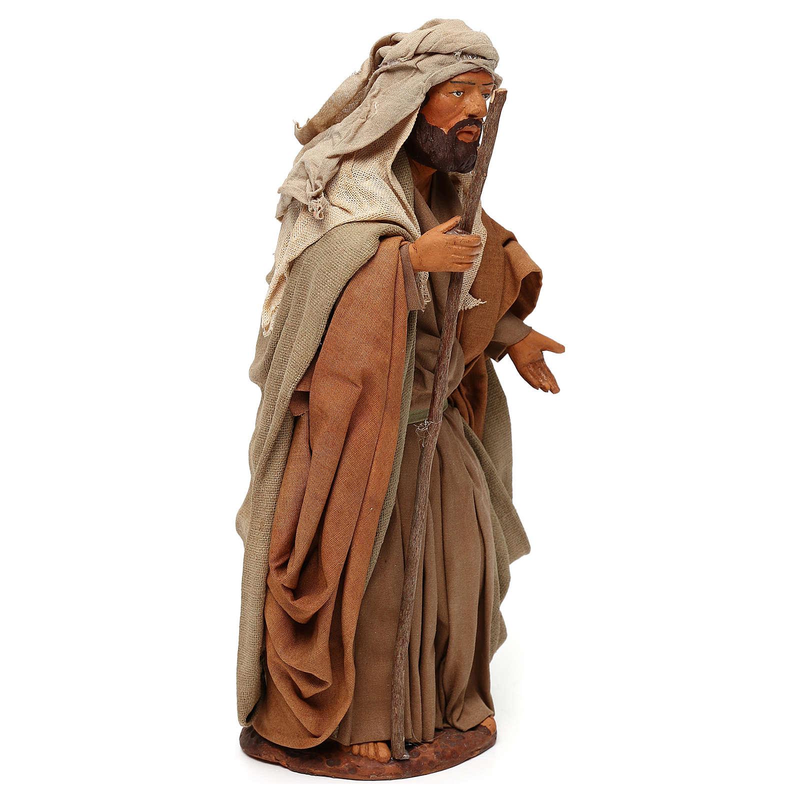 STOCK San Giuseppe terracotta vestito 18 cm presepe napoletano 4