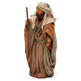 STOCK San Giuseppe terracotta vestito 18 cm presepe napoletano s3