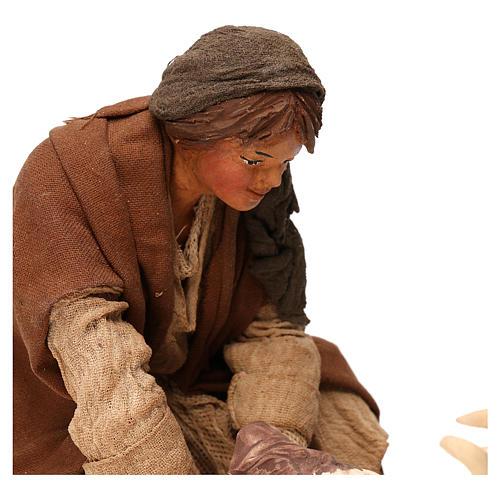 STOCK Donna con capra terracotta vestita 24 cm presepe Napoli 2