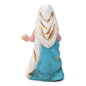 Madonna terracotta dipinta presepe napoletano 8 cm s2