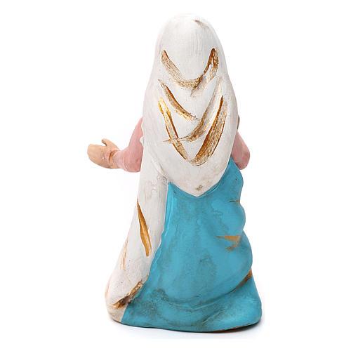 Madonna terracotta dipinta presepe napoletano 8 cm 2