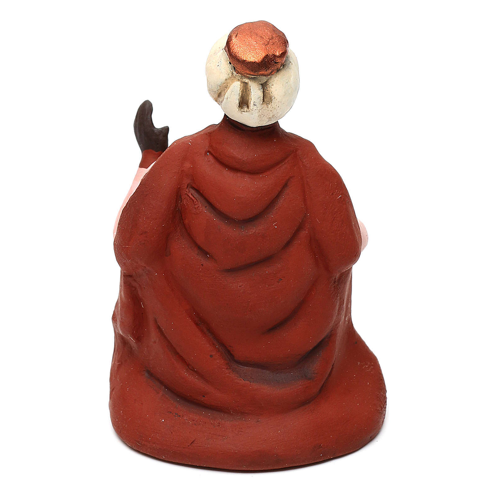Moor Wise Man for Neapolitan Nativity scene 8 cm 4
