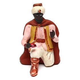 Moor Wise Man for Neapolitan Nativity scene 8 cm s1