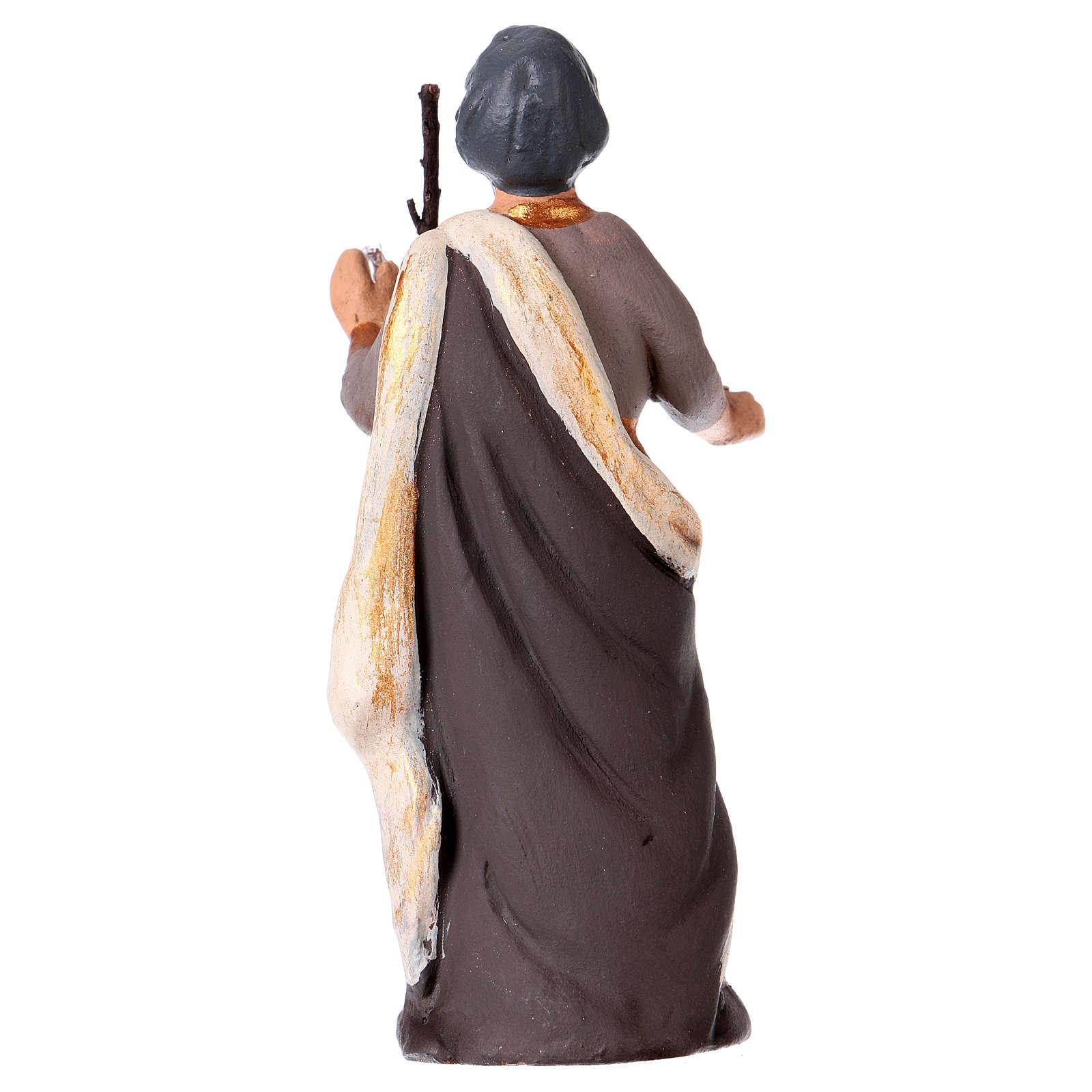 St. Joseph for Neapolitan Nativity scene 8.5 cm 4