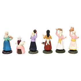 Set with six models of different women for Neapolitan Nativity scene 8 cm s5