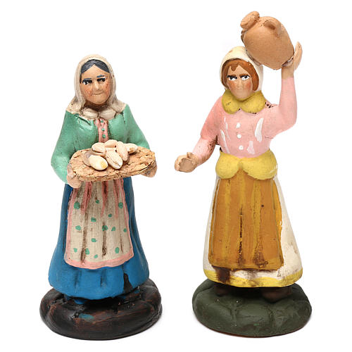 Set with six models of different women for Neapolitan Nativity scene 8 cm 2