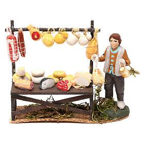 Cheese counter with shepherd for Neapolitan Nativity scene 8 cm s1