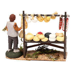 Cheese counter with shepherd for Neapolitan Nativity scene 8 cm s4