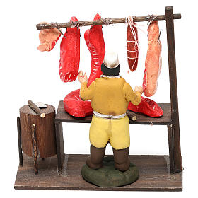 Butcher's shop with butcher's shop for Neapolitan Nativity Scene 8 cm s4