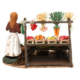 Woman with fruit and vegetable counter for Neapolitan Nativity scene 8 cm s4