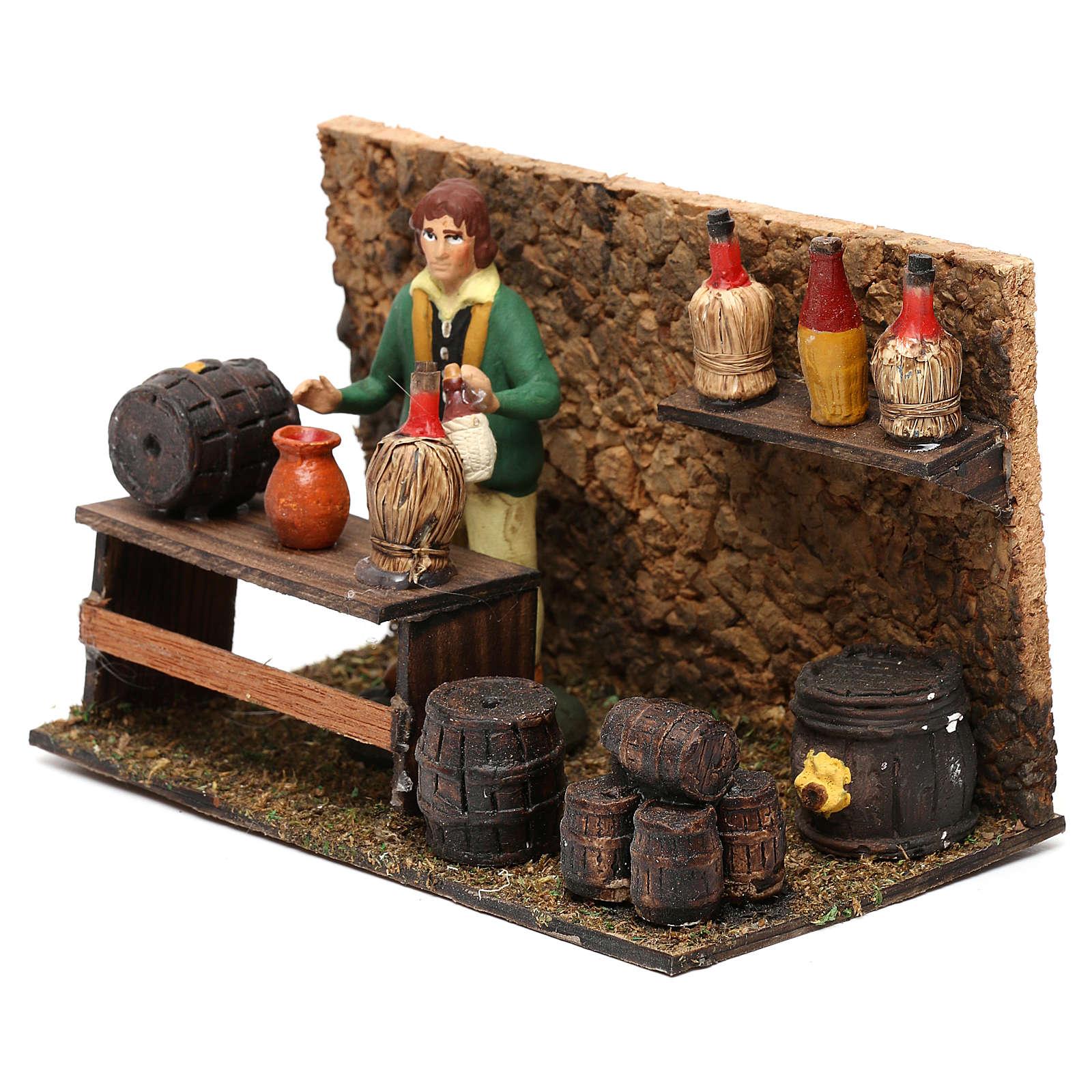Wine shop for Neapolitan Nativity scene 8 cm 4