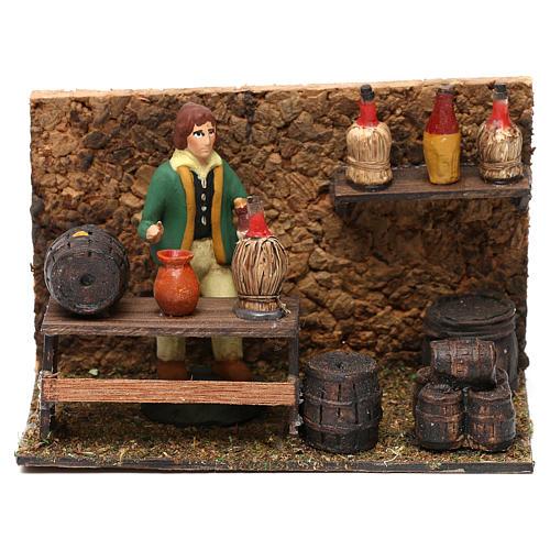 Wine shop for Neapolitan Nativity scene 8 cm 1