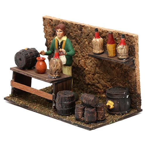 Wine shop for Neapolitan Nativity scene 8 cm 2