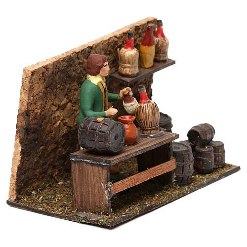 Wine shop for Neapolitan Nativity scene 8 cm 3